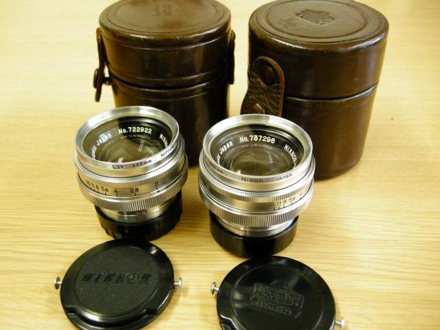 Very Rare Nikkor 5cm F2 Lenses with case