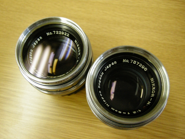 Very Rare but Beautiful Nikkor 5cm F2 Lenses